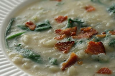Potato with Bacon Soup