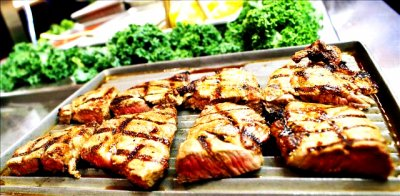 Carved Grilled Pork Loin
