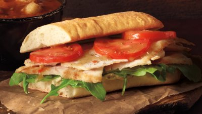 Chicken Pesto on Ciabatta Ficelle Bread, Combo