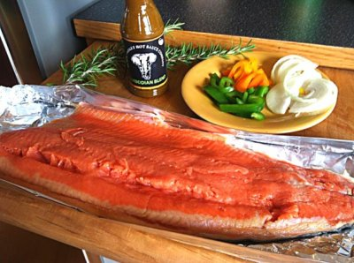 Fresh Cedar Planked Salmon