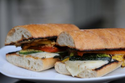 Grilled Veggie Sandwich, Traditional Ciabatta