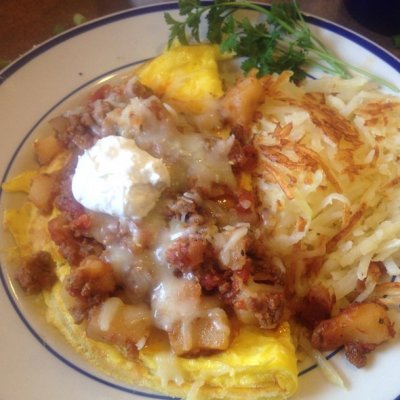 Border Scramble Omelet with Bob Evans Egg Lites