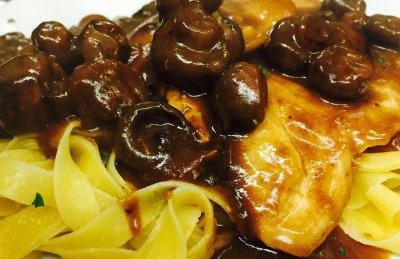 Chicken Marsala, Lunch  with Fettuccine
