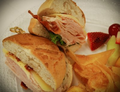 California Club Turkey Sandwich, Parmesan Herb Ciabatta