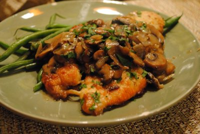 Chicken Marsala, Dinner