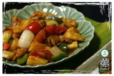 Sweet & Sour Original with Chicken (steamed) (with white rice)