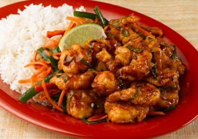 Thai Dynamite Original with Shrimp (steamed) (with white rice)