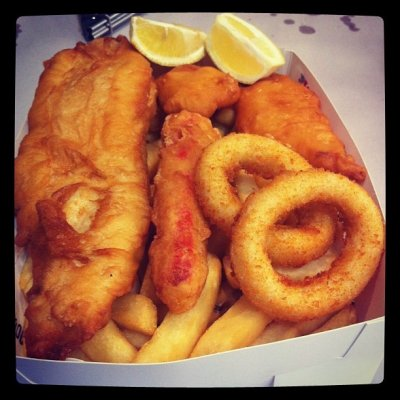 Lunch Fish 'N' Chips Basket Combo