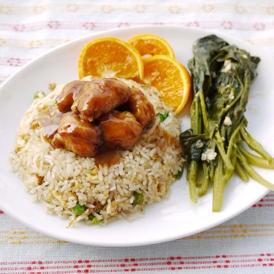Orange Peel Small with Chicken (with white rice)