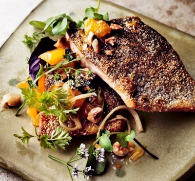 Pecan Parmesan Crusted Rainbow Trout