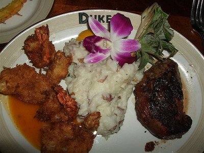 Sirloin 6 oz & Coconut Shrimp