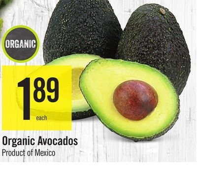 Organic, Avocado, Retailer Assigned