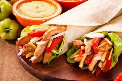 Grilled Chicken Wrap without Fries