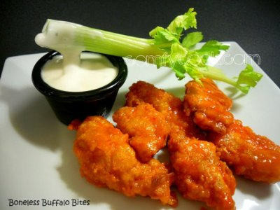 Boneless Buffalo Chicken Wings w/ Carrots, Celery & Dipping Sauce-ZT