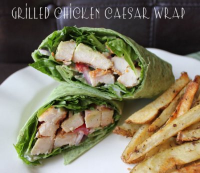 Spinach & Grilled Chicken Wrap