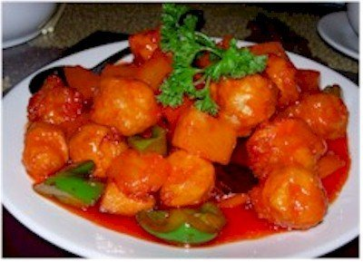 Restaurant, Chinese, sweet and sour pork