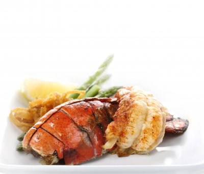Grilled Lobster Tails (2 tails, 5-6oz with butter)