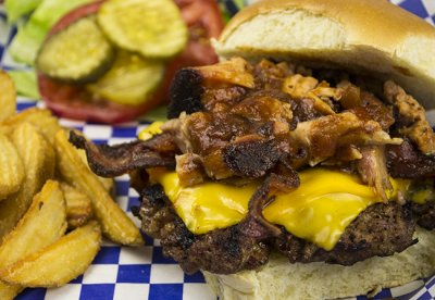 Famous Brisket Burger (does not include side nutrition info)