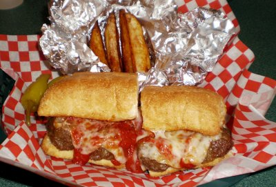 Meatball Sandwich with Parmesan Fries