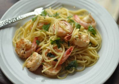 Shrimp Scampi, Dinner