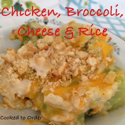 Broccoli Cheese and Rice Bake