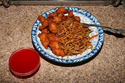 Sweet and Sour Chicken Lo Mein