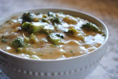 Cream of Broccoli with Cheese Soup