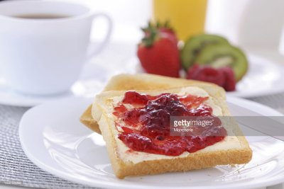 Toast w/ Butter & Jam, Whole Wheat