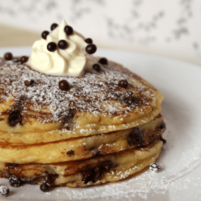 Plenty-O-Pancakes with Chocolate Chips (no topping)