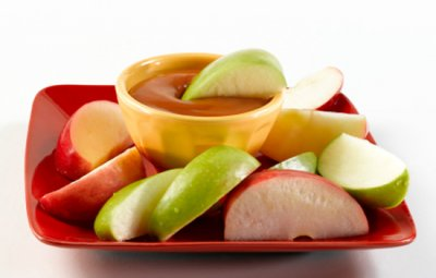 Apple Slices, with Caramel Dip