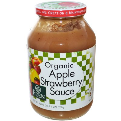 Apple Strawberry Sauce, Organic