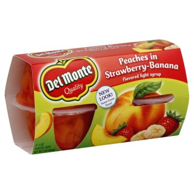 Strawberry-Banana Flavored Peaches