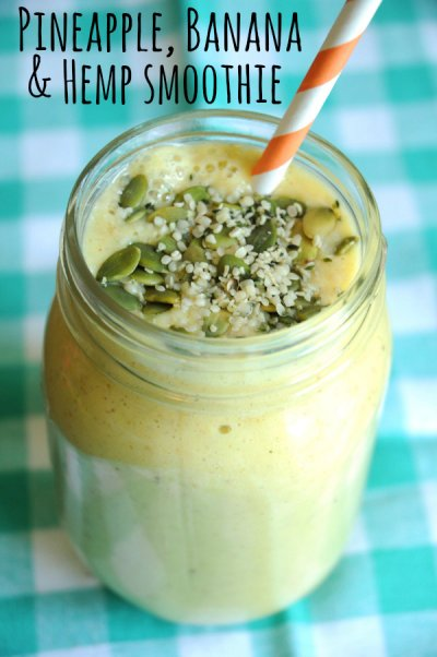 Pineapple/Banana Smoothie, Large