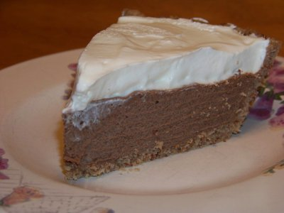 Reduced Sugar Chocolate Cream Pie