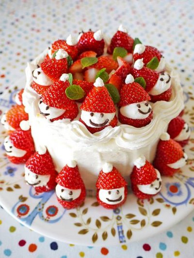 Strawberry Cake with White Icing