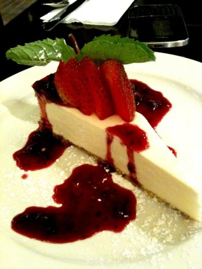 No Sugar Added Strawberry Cheesecake