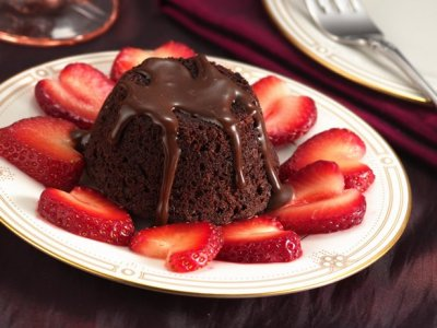 Mini Hot Fudge Cake