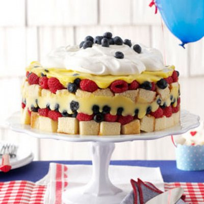 Red White and Blueberry Supreme Pie