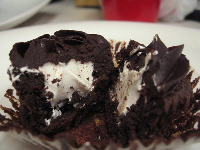 Belgian Chocolate Souffle Cake with Haagen Daz
