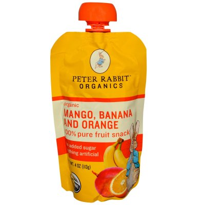 Organic Mango, Banana And Orange Fruit Snack