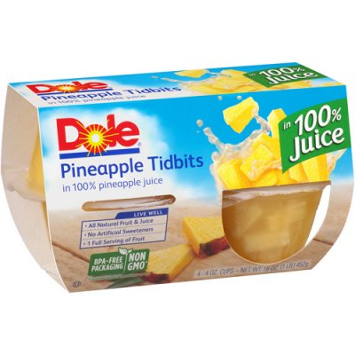 Pineapple Tidbits, In 100 % Juice #10 Club Pack