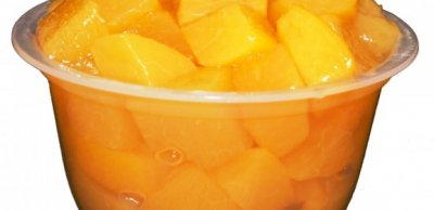 Yellow Cling Diced Peaches, In Organic Pear Juice From Concentrate
