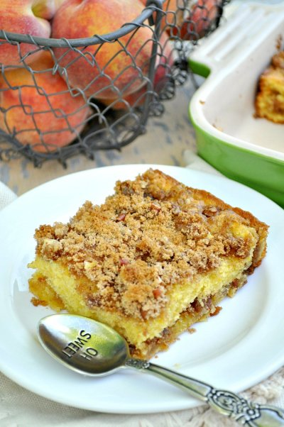 Iced Apple Streusel Cake