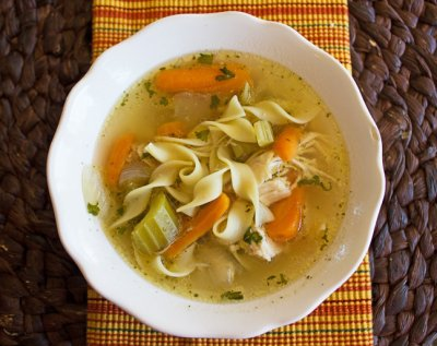 Crock Chicken Noodle Soup