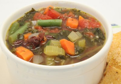 4 Bean Minestrone with Whole Grain Pasta