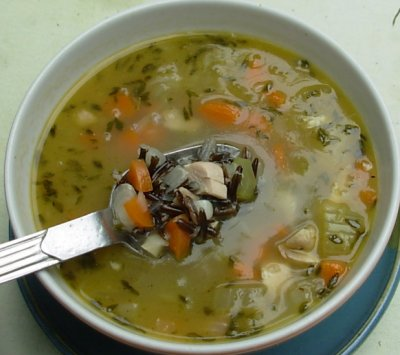 Chicken with Wild Rice soup