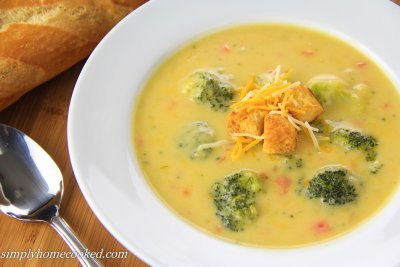 Cup of Broccoli and Cheddar Cheese Soup