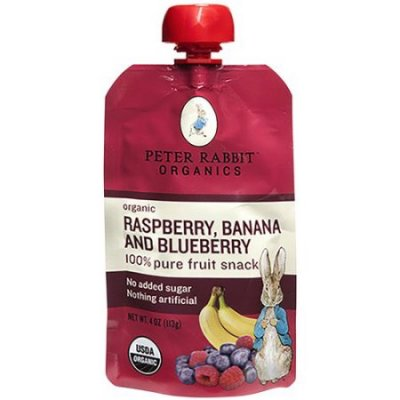 Organic Raspberry, Banana and Blueberry Fruit Snack