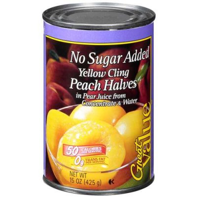 Peach Slices,Yellow Cling No Sugar Added