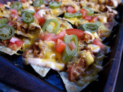 BBQ Nachos-SMALL: Georgia Pork
